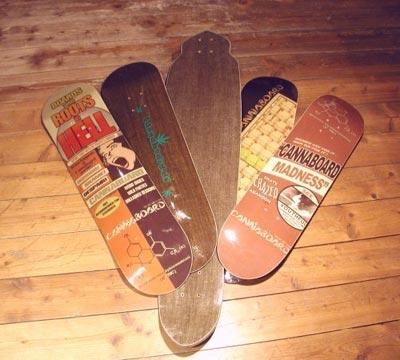 Skateboards aus Hanf