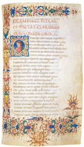 Pergamentschrift Canzoniere et Trionfi 1469