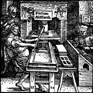 Gutenberg, Druckwerkstatt