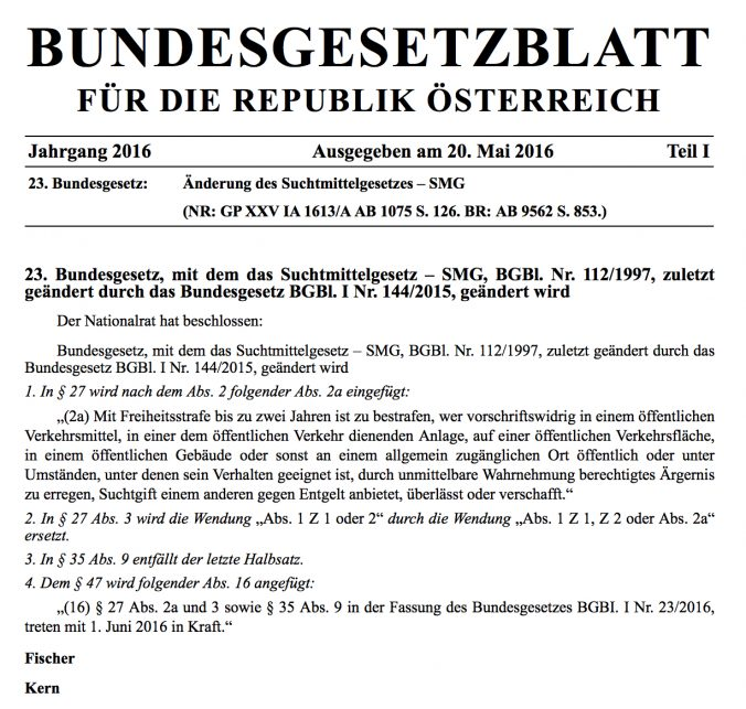 Bundesgestzblatt Österreich