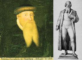 Johann Gutenberg, Portrait und Statue